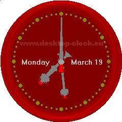 Big Ben red clock