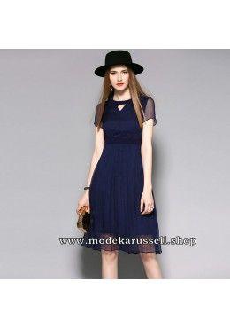 Elegantes Seiden Kleid Abendkleid Ursa in Blau