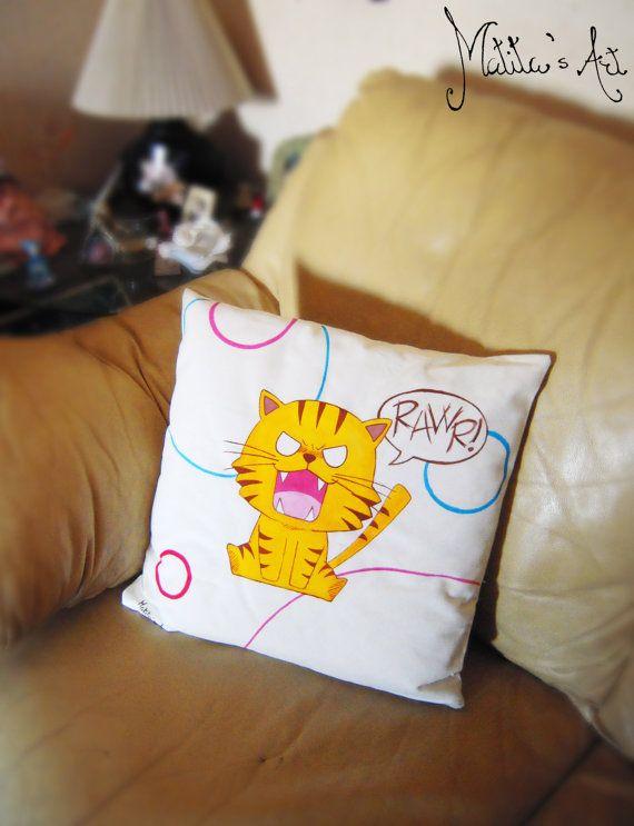 Toradora hand-painted pillow by Matita's Art