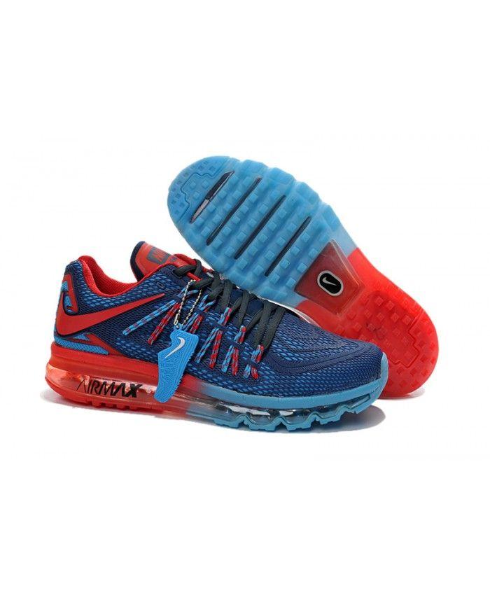 super populaire ae4d9 09671 Homme Nike Air Max 2015 Kpu Bleu Foncé Rouge Chaussures ...