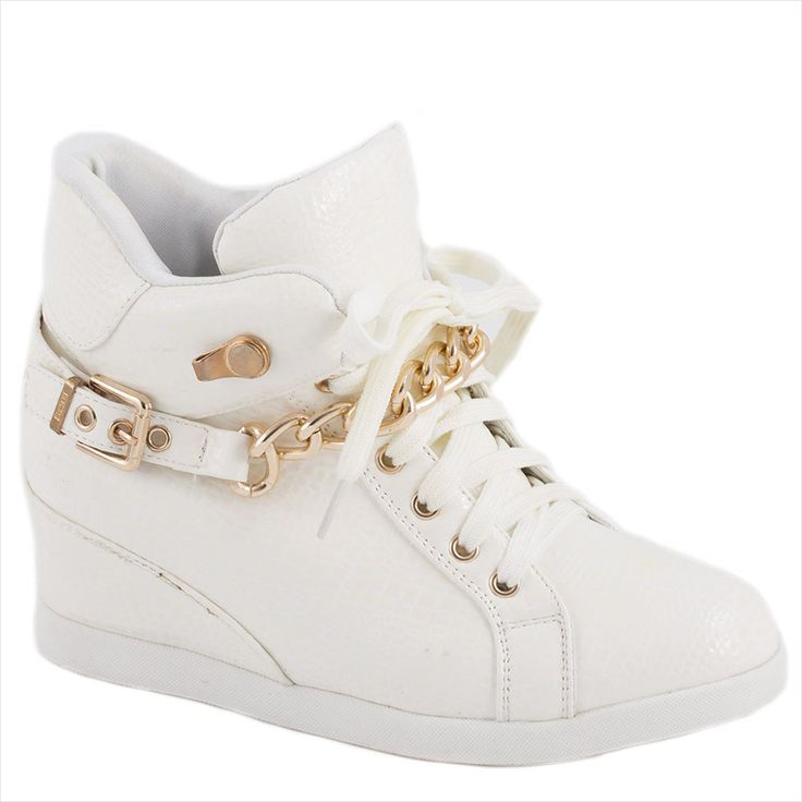 Sneakers dama cu accesoriu auriu 8086-7A - Reducere 58% - Zibra