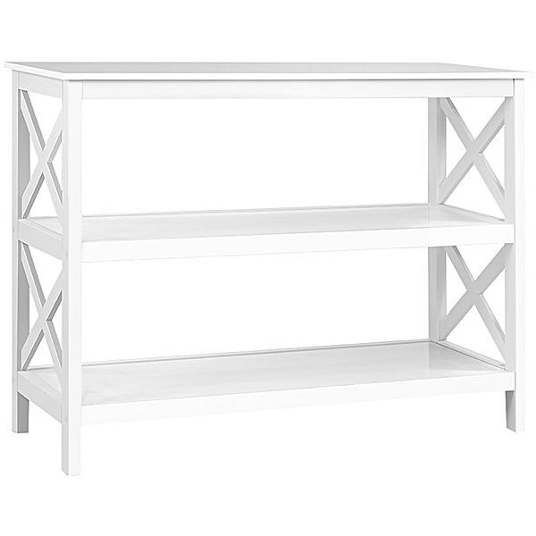 Living Room White Console Table With Storage