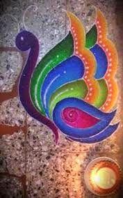 தமிழ் பொங்கல் Tamil Pongal: Mayil (peacock) Kolam