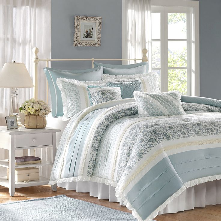 The Madison Park Dawn Collection 9-Piece Queen Comforter