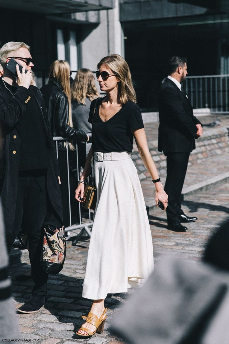 London_Fashion_Week-Spring_Summer_16-LFW-Street_Style-Collage_Vintage-Midi_Skirt_White