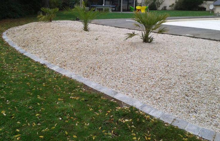 Bordure limite entre pelouse et gravier id es pour la for Bordure de maison en gravier