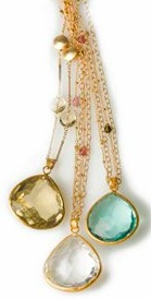 Coralia Leets - Long Chain Necklaces with Drop Colored Stones. Available at OctiumDrop Colors, Colors Stones, Long Chains, Coralia Leete, Octium, Chains Necklaces