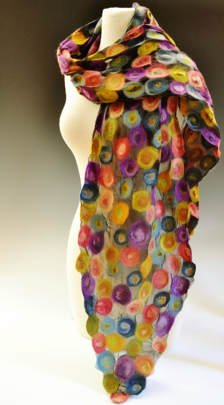 Tessa by Elizabeth Rubidge: Felted Scarf available at www.artfulhome.com