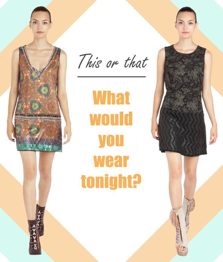 ¿Qué te pondrías esta noche? What would you wear tonight?  Elige tu vestido en / Choose your dress at www.custo.com