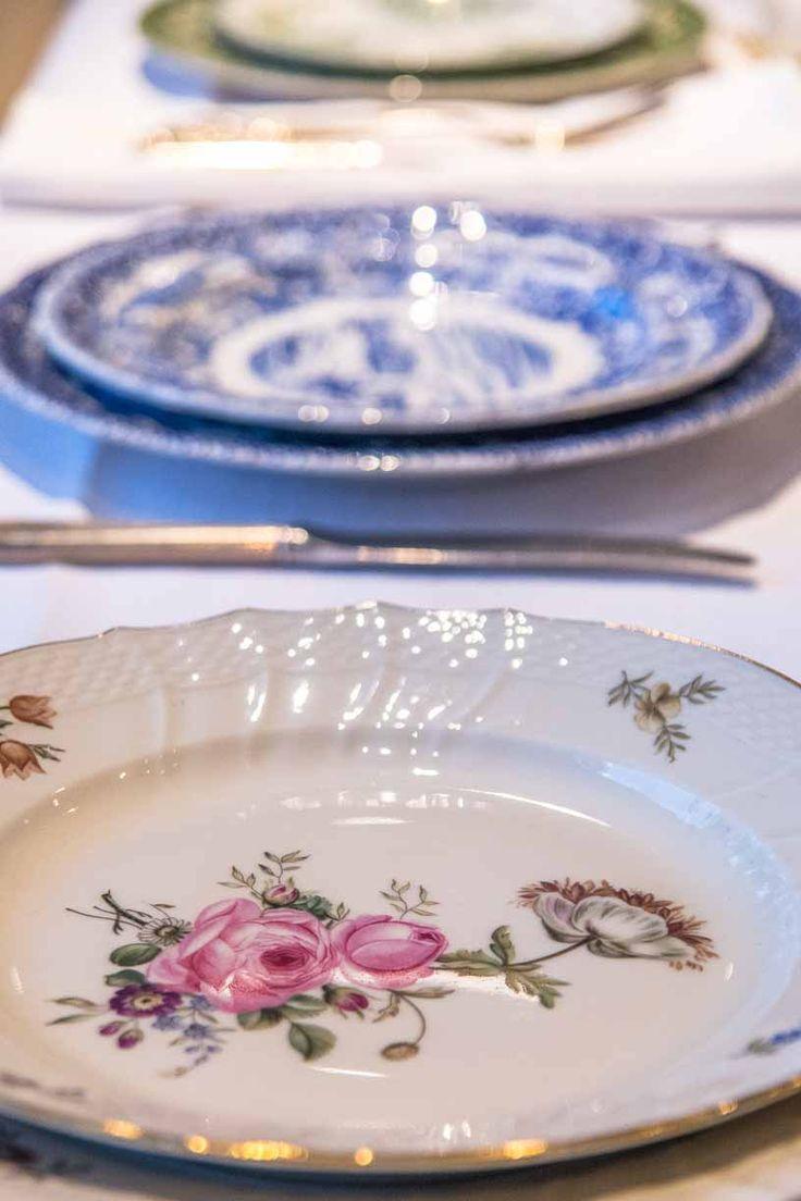 Vintage mix servise #borddekking #bryllup #table setting