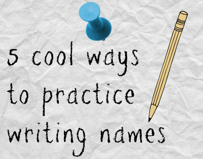 different ways to write letters 5 cool ways to teach name writing names ones and 21371 | c936498eef8bffa7c511a8061aff9c11