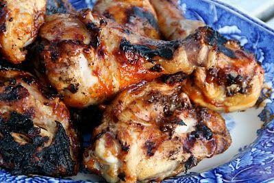 Grillet kylling med en rask og enkel bbq-saus