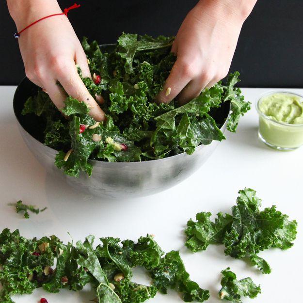 Tips for making kale salad