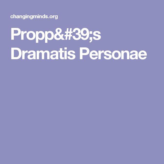 Propp's Dramatis Personae