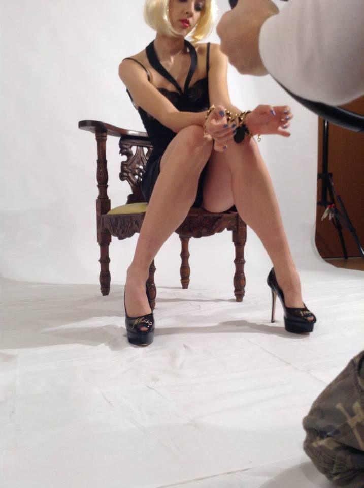 Chained Cuffs Slim, Absolut Misstress  Studded Pump and Little Black #Dress