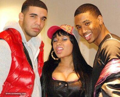 Drake, nicki minaj, and trey songz throwback pic