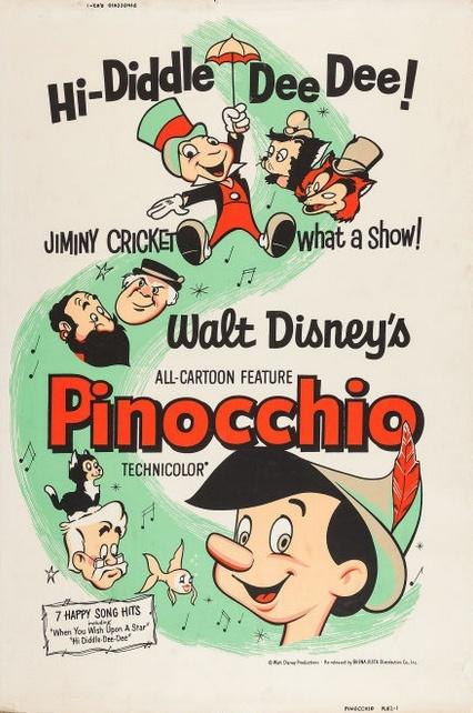 Pinocchio (Buena Vista, R-1962).