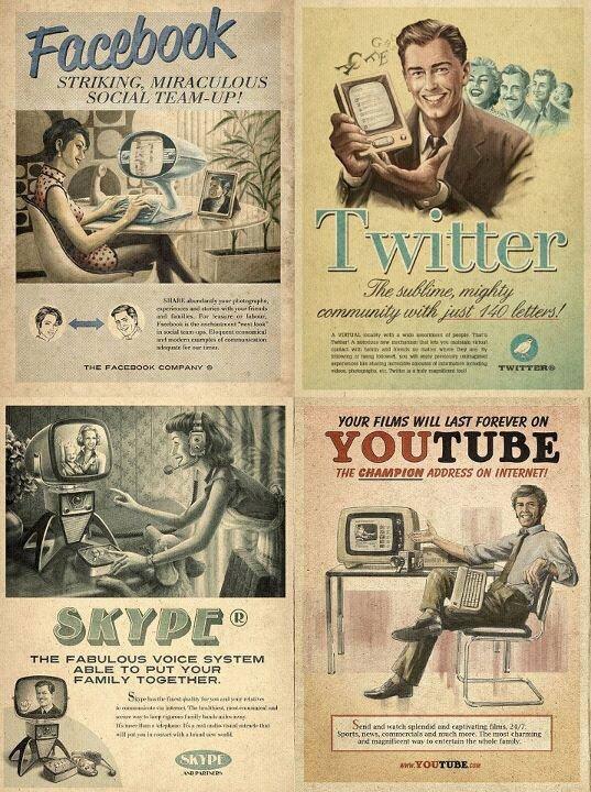 Publicidad pasada con productos actuales