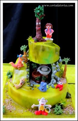 Torta cumpleaños Dora Exploradora