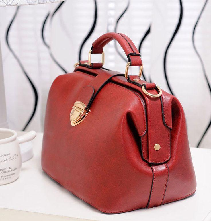 2013 Fleather Shoulder Doctor Bag Handbag Messenger