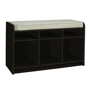 Martha Stewart Living 35 in. x 21 in. Espresso Storage Bench with Seat-4963 at The Home Depot