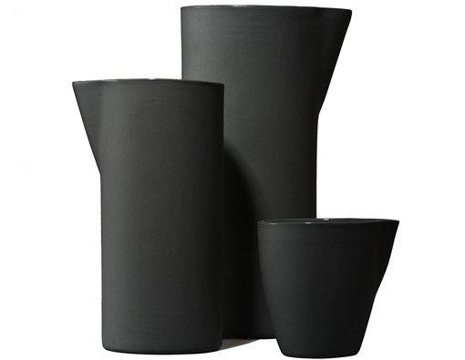 Handmade Ceramic Carafes (Slate) - Kaufmann Mercantile