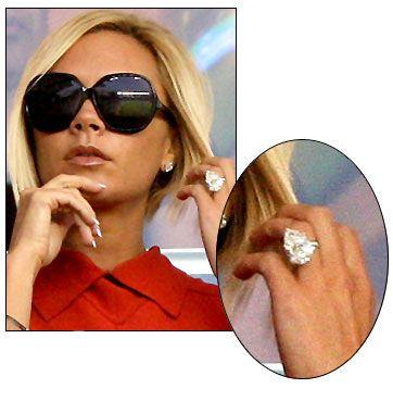 Victoria Beckham Engagement Ring Diamond Rings Wedding Altars Promise Bands