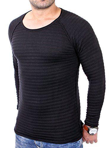 Redbridge Sweatshirt Herren Slim Fit Langarm Rundhals Pullover RB-3008 Schwarz M
