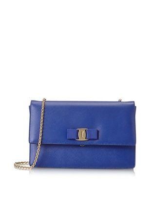 22% OFF Salvatore Ferragamo Women's Textured Crossbody, Blue