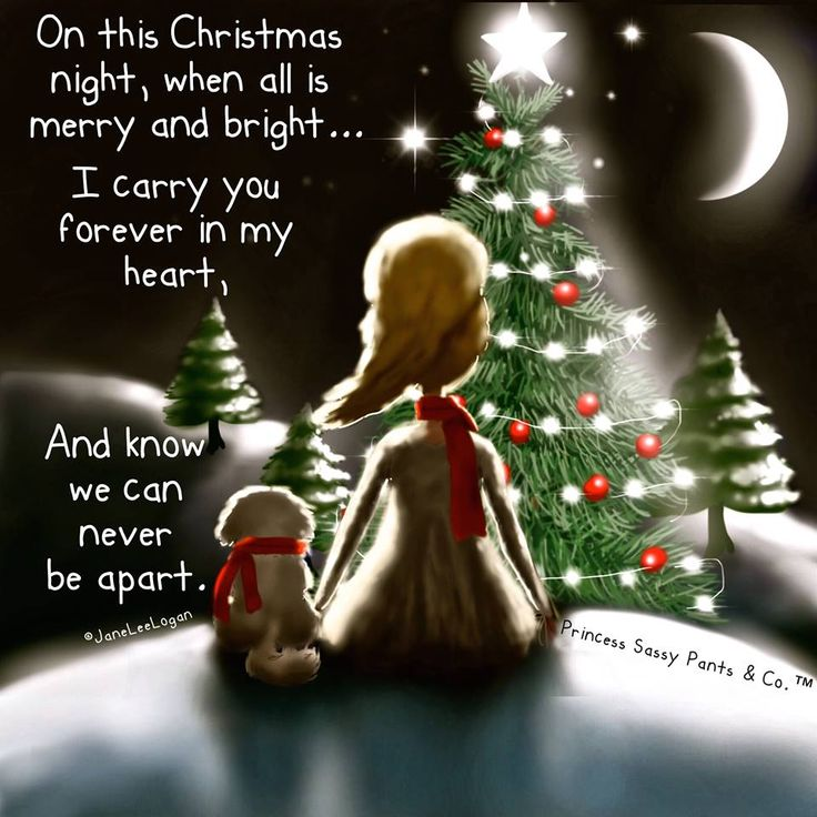 On this christmas night, when all is merry and bright..I carry you forever in my heart, and I know we can never be apart.