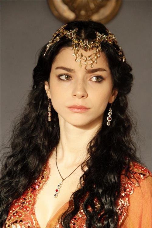 Turkish Actress Merve Bolugur (scene from Magnificent Century TV series, episode 106)