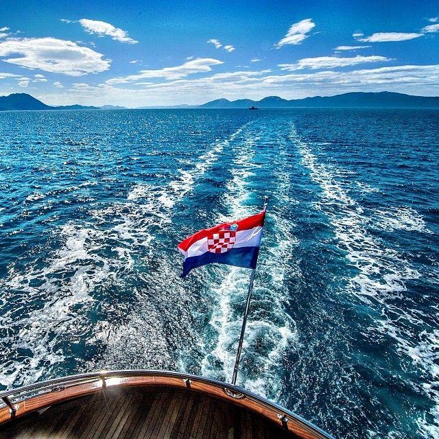The Croatian Flag And The Amazing Croatian Coastline Sailcroatia Croatianflag Adriaticsea Croatia Croatiaonmy Croatian Flag Croatia Flag Sailing Croatia