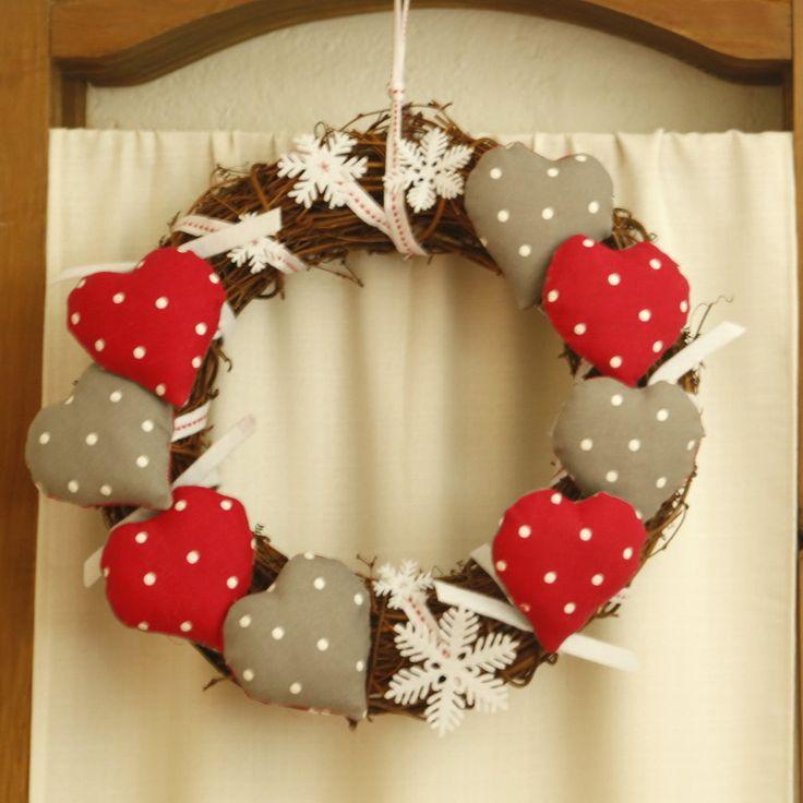 Couronne décorative pour les fêtes de Noël : Accessoires de maison par cate-line-creations