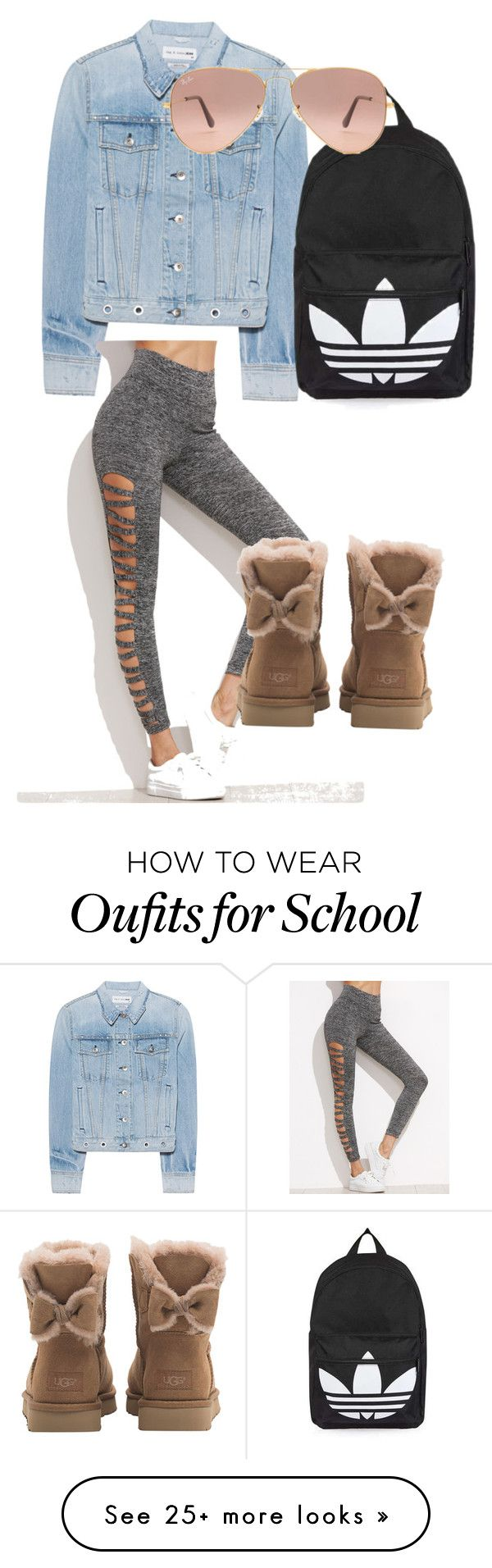 """School Day"" by libmil on Polyvore featuring rag & bone, Topshop, Ray-Ban and UGG"