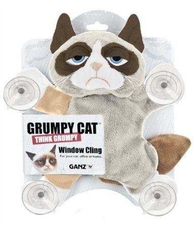 "Ganz Grumpy Cat Window Cling 10"" Plush"