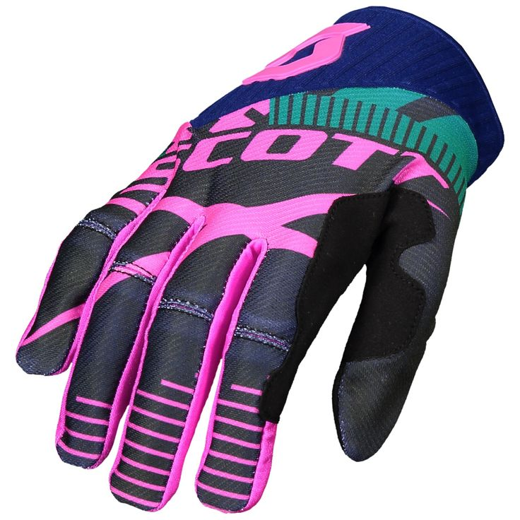 Scott 450 PATCHWORK Gloves (BLU/BLU).