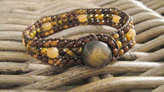 Energy Brown Butterfly cuff bracelet Single by UniqueDScandinavia