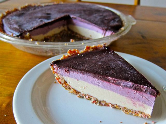Frozen Ice Cream Cheese Cake (w/out Cream Or Cheese) #dessert #dairyfree #vegan #healthy #undiet