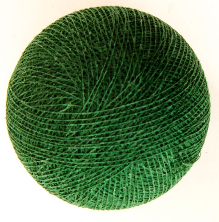 Hunters Green Cotton Ball String Light from Cotton Cable