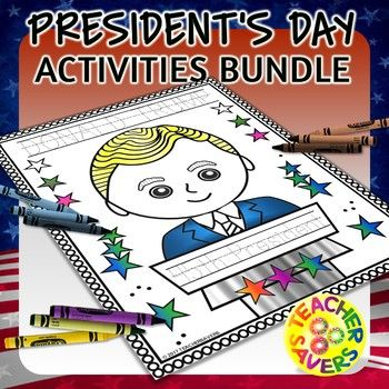 President's Day No-prep Printables Activity Pack contains 135 Black and White Activity worksheets that have a variety of fun and academic options to engage your children for this historic day. Includes George Washington, Abraham Lincoln, Kennedy, Clinton, Obama, Trump (from the 1st to present day) • Presidential Posters Landscape (45 pages) • Presidential Posters Color
