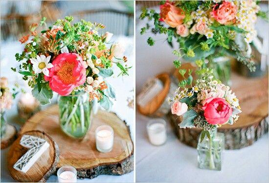 fleurs centre tables mariage champetre fleurs mariage table et bouquet pinterest mariage. Black Bedroom Furniture Sets. Home Design Ideas