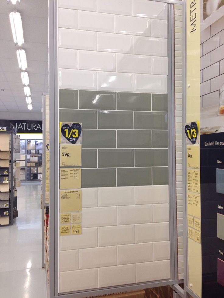 Topps Tiles - Metro tiles - think I prefer the cream