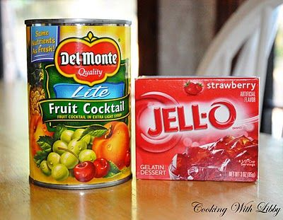 Cooking With Libby: Jello Fruit Cocktail Dessert & A Winner!!