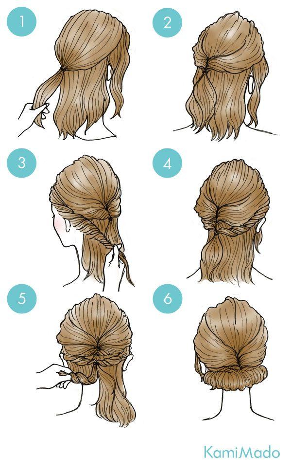 Tutorial de penteado fácil de coque baixo, perfeito para cabelos médios e longos.
