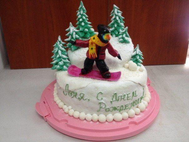 Торт Сноубордист в Буковели #торт_на_заказ_горенка #спортивные #бисквитный_торт