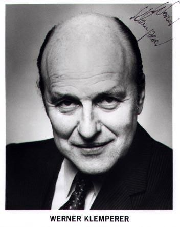 Werner Klemperer, drama and comedic actor  (Hogan's Heroes) 1920-2000