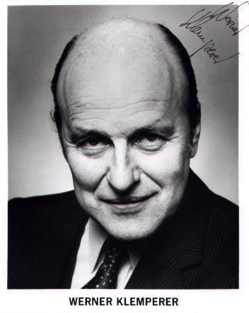 Werner Klemperer, drama and comedic actor  (Hogan's Heroes) 1920-2000