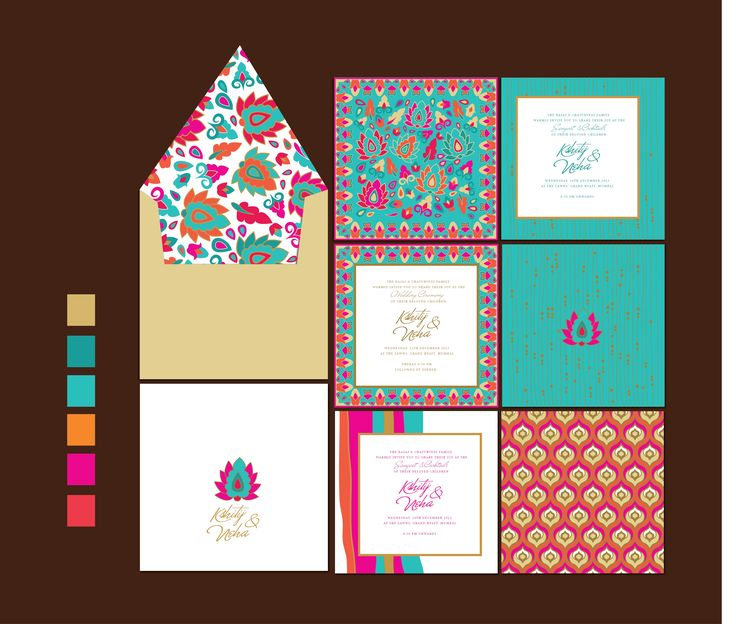 pop indian wedding invitations