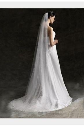 Véus de Noiva De uma camada Véus Catedral Ao ar livre Vestido