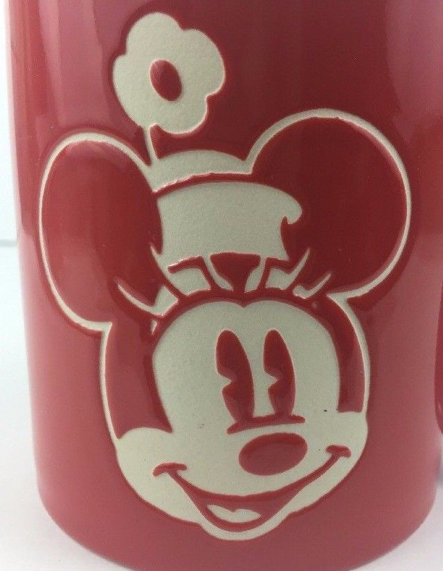 Minnie Mouse Large Heavy Red Mug The Pink Oversized Coffee Cup nOw0Pk